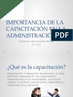 Importancia de La Capacitación en La Administración