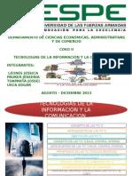 EXPO COSO II (CONTROL EN AMBIENTES TIC´S)(LEONES,PAUKER,TOAPANTA,USCA)
