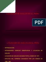 Licuación de Suelos en El Perú