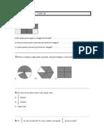 Lista de Matemática Noção de Frações