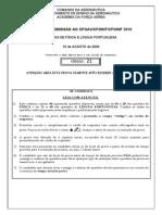 Prova 2010 (Fisica e Portugues)