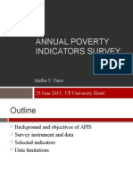 Annual Poverty Indicators Survey