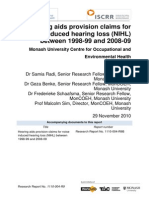004 Hearing Aids provision claims for NIHL 2010