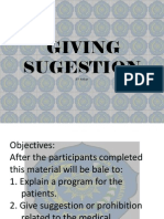 Giving Sugestion