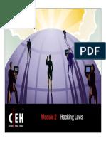 CEHv6.1 Module 02 Hacking Laws