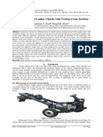 Stress Analysis of Ladder Chassis with Various Cross Sections