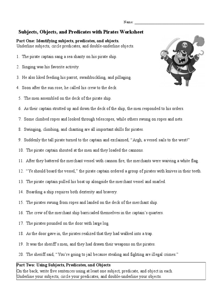 All Grade Worksheets Subject And Predicate Worksheet All Grade – Subject Predicate Worksheet