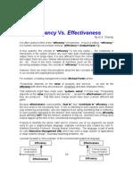 Efficiency n Effectiveness