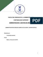 Administración de riesgos (aplicado empresa)