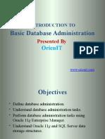 Basic Oracle Database Administration