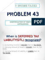 Problem 44 Identification of Temporary Differences