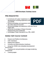 Adobe CQ5 Developer Online Training