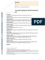 Association of Y chromosome haplogroup I with HIV progression, and HAART outcome