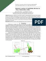 Quantitative Morphometric Analysis of AmbilOdha (Rivulet) In Pune, Maharashtra, India