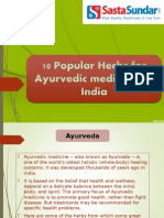 10 Popular Herbs For Ayurvedic Medicines In India