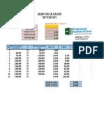 Salary Tax Calculator T.year 2015