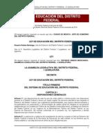 Ley de Educación Del Distrito Federal