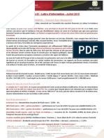 ID Patrimoine & id Pro Sport - Newsletter Juillet 2015
