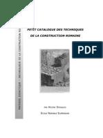 Materiales para la enseñanza de la arqueología de la construcción romana, de Helen Dessales, Ecole Normale Superieure