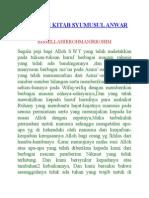 Terjemah Kitab Syumusul Anwar