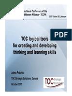 Jelena Fedurko_Eng_TOC tools_8 TOCPA_Oct 2013