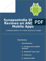 SynapseIndia Sharing Reviews on ANDROID Mobile Apps