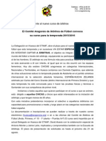 Nota de Prensa Curso Arbitros TEM.15-16