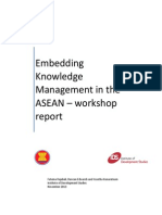 Embedding Knowledge Management in the ASEAN