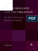 Adam Ure-Vasilii Rozanov and the Creation_ The Edenic Vision and the Rejection of Eschatology-Continuum (2011).pdf