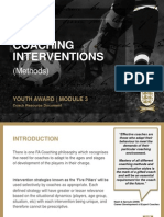 Coaching Interventions Methods by the English FA