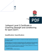 L3 Certificate in Coaching Strength and Conditioning for Sport (QCF) QS V2 221014