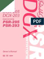 YAMAHA PSR 295 and Dgx205_en