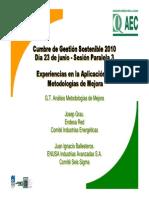 Experiencias en La Aplicación de Metodologías de Mejora.2010