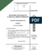 Matura 2008 - hiszpański - poziom rozszerzony - arkusz maturalny (www.studiowac.pl)