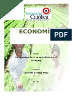 Importancia de La Agricultura en el Paraguay
