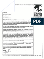 KCSPCA/FSAC/DEACC letter to SC terminating dog control contract
