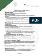 FORMULARIO PARA LA PRESENTACION DE PROYECTOS