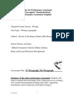 Gr4 WritingParagraph ASSESSMENT