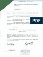 Resolución de nombramiento del Diputado Asseff como miembro del Parlasur