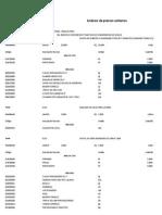 Analisis de costos unitarios Muros de Contencion y Practicas de Conservacion de Suelos