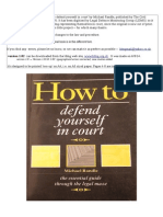 How to Defend Yourself in Court