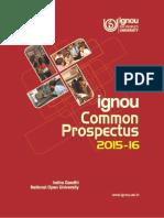 Prospectus2015English  IGNOU