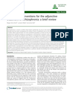 Nutritional Interventions for the Adjunctive Treatment of Schizophrenia