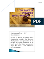 Legal Bases of Philippine Educational System