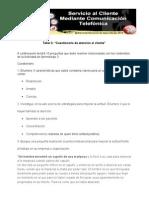 """Taller 3 """"Cuestionario de Atención Al Cliente"""" Angelica Maria Jimenez Villa"""