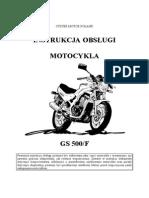 Instrukcja Obsługi GS500