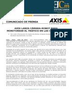 NP Axis Communications - Axis lanza cámara-robot para monitorear el tráfico en las carreteras