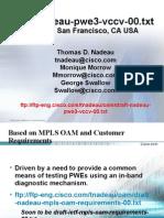 MPLS OAM RFC Draft