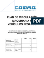Plan de Circulación Maquinaria Pesada