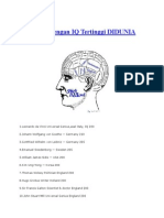 100 Orang Dengan IQ Tertinggi di DUNIA sampai 2015